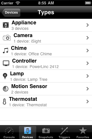 Shion Touch: Device List